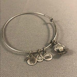 Alex and Ani charm bracelet- silver sea shell